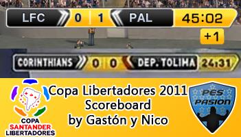 pes 2011 Scoreboard Copa Libertadores 2011 by Gastón y Nico