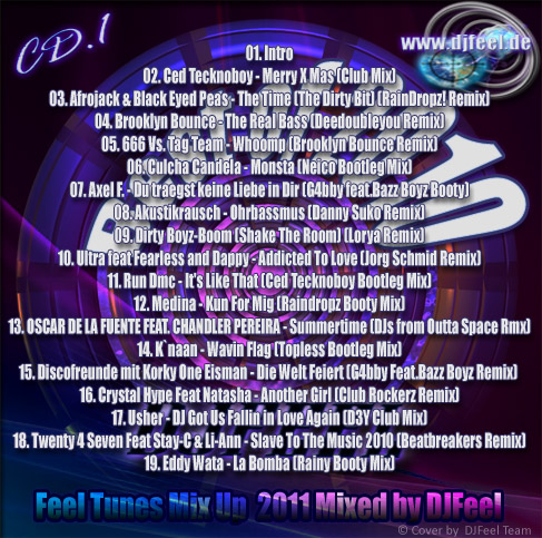 Feel Tunes Mix Up Best of 2010 Megamix 2011 CD1 & CD2  Mixed by DJFeel